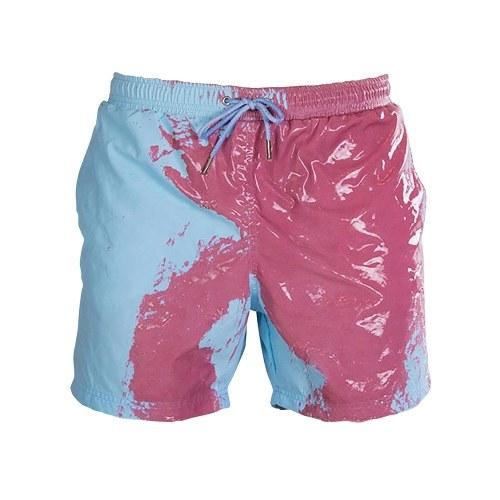 Funny Color Changing Swim Trunks Swimwear Summer Temperature Sensitive Beach Swim Shorts for Boys Children