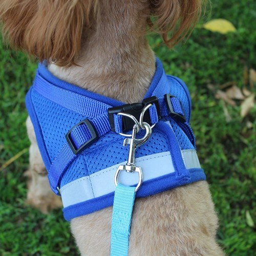 Dog Harness No-Pull Pet Harness Step-in Air Dog Harness, Soft Mesh Cat Harness, Step in Vest Harness Adjustable Outdoor Pet Vest, Reflective Harness for Pet Kitten Puppy Rabbit, (Black,S)