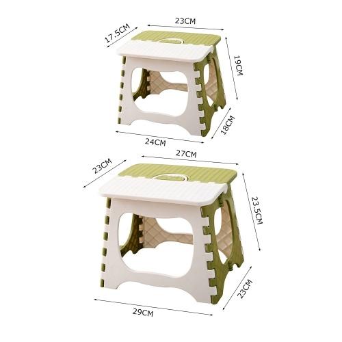 Пластиковый Складной Ступенька Многоцелевой Портативный Табурет Открытый Складной Складной Табурет Дома Маленькое Сиденье Путешествия Складной Табурет фото