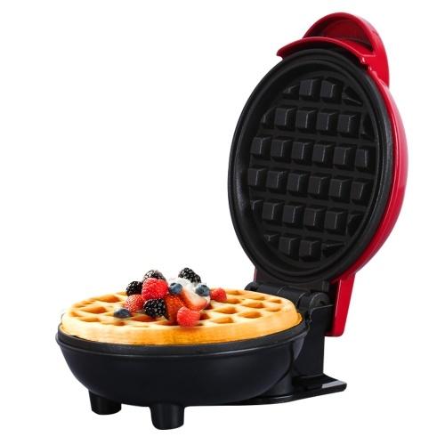 Mini máquina de desayuno para hacer gofres, antiadherente, fácil de limpiar