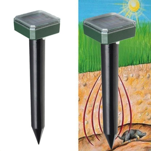 Solar Mole Repellent Ultrasonic Outdoor Powered Sonic Deterrent - Mole Stopper Scare Vole