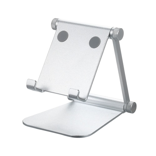 Angle Adjustable Phone Tablet Stand Holder Double Folding Aluminium Alloy Foldable Desk Holder Cell Phone Stand