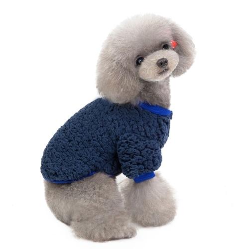 Mascota Ropa para perros Prendas de punto Suéter para perros Engrosamiento suave Camisa cálida para perros cachorros