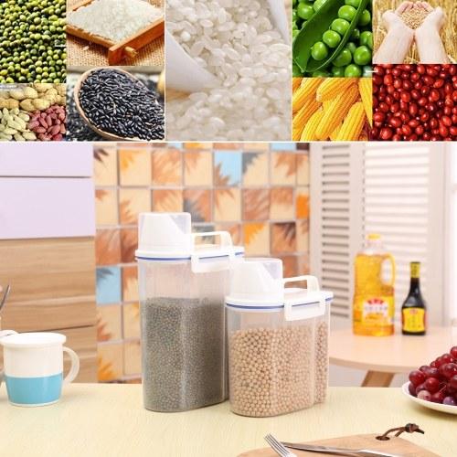 1.5L Portable Plastic Rice Storage Bin