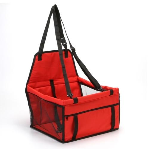 Dog Car Seat Booster Pet Car Basket with Dog Seat Belt
