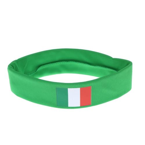 Anself Италия флага оголовье руководитель группы Sweatband аплодисменты отряд Футбол Футбол спорт вентиляторы для волос карнавал фестиваля костюм