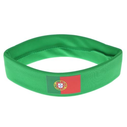 Anself флаг Португалии оголовье руководитель группы Sweatband аплодисменты отряд Футбол Футбол спорт вентиляторы для волос карнавал фестиваля костюм