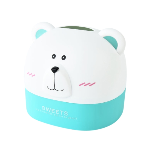 Creative Plastic Paper Towel Box RB271 Polar Bear Tissue Box Desktop Animal Shaped Roll Paper Holder Cover