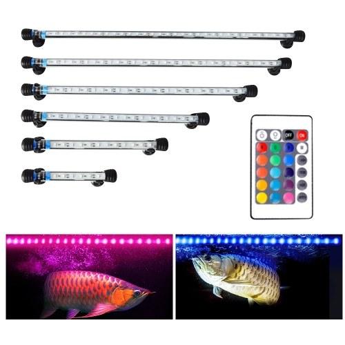 Fish Tank Light LED Aquarium Light Submersible Crystal Glass Lights RGB Colorful Underwater Light