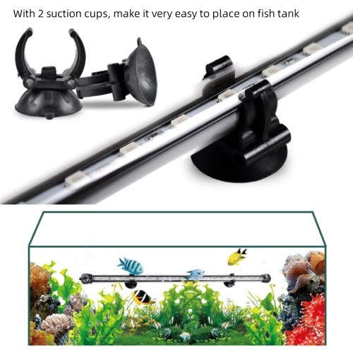 Fish Tank Light LED Aquarium Light Submersible Crystal Glass Lights RGB Colorful Underwater Light