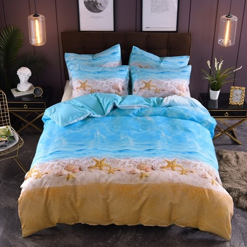 Bedding Set Beach Starfish Pillowcase Bed Sheet