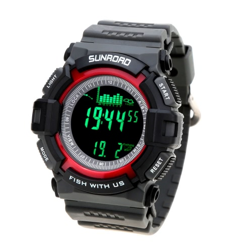 Sunroad FR712A Digital All In One 3ATM Waterproof Fishing Barometer Altimeter Thermometer Watch Multifunction