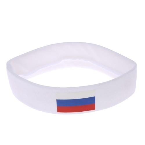 Anself России флаг оголовье руководитель группы Sweatband аплодисменты отряд Футбол Футбол спорт вентиляторы для волос карнавал фестиваля костюм