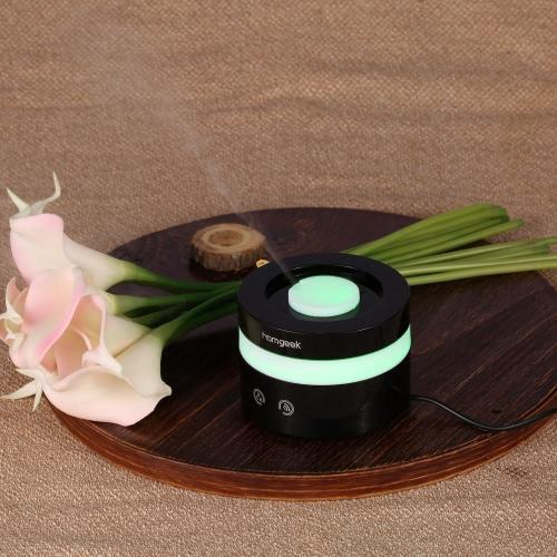 Homgeek Mini USB Humidifier Ultrasonic Aroma Oil Diffuser Air Purifier Mist Maker LED Night Light Home Office