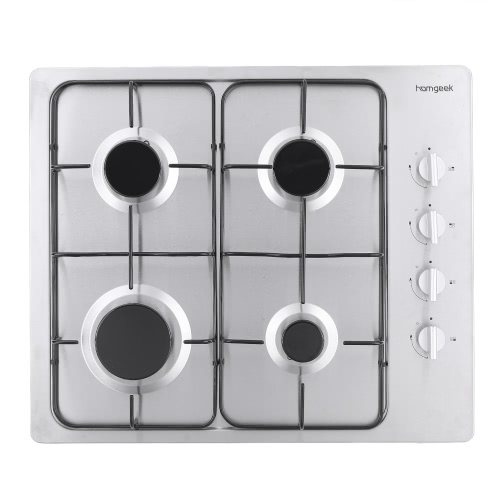 Homgeek High-end Modern European Style 4 Burners Built-in Stainless Steel Gas Hob Gas Range Professional Kitchen Cooktop