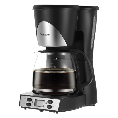 Homgeek High-end 1.5L Coffee Maker 12 Cups Programmable Coffeemaker Coffee Machine with Carafe & Coffee Measuring Scoop