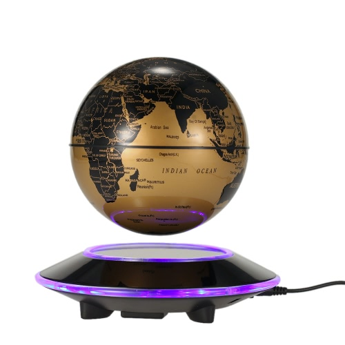"""6 """"LED Floating Maglev Globe Fantastyczny Magnetic Levitation Globe Excellent Desktop Decor Tellurion"""