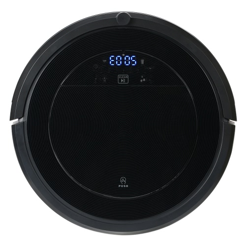 Smart Intelligent Rechargeable Robotic Vacuum Cleaner Floor Sweeper Automatic Floor Cleaning Machine Anti Fall Anti Collision with LED Display US Plug for Home