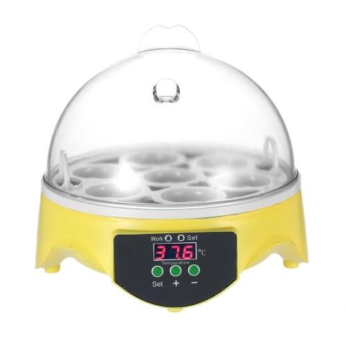 7 Яйца Мини цифровой Яйцо инкубатор Хэтчер Прозрачный Яйца инкубационные машины автоматический контроль температуры для курицы утки птицы яйца AC220V