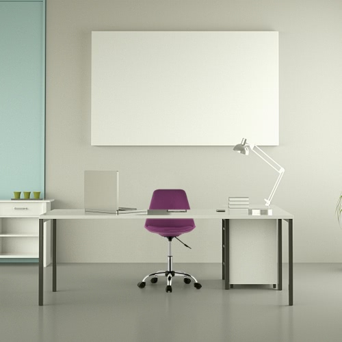 iKayaa Silla de escritorio ajustable para oficina en el hogar