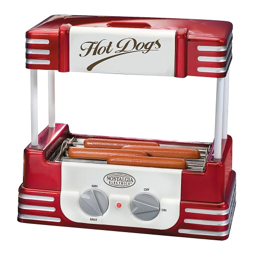 Nostalgie Old Fashioned Household Hot Dog Roller Grill Hotdog Maker Hot-dog Barbecue Machine à barbecue Sausage Grill 5 rouleaux 220-240V