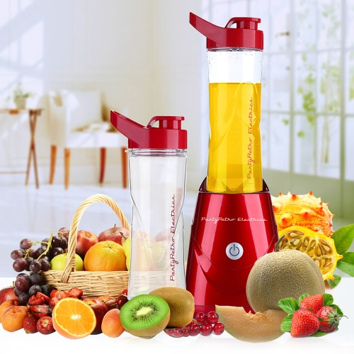 Parytretro 220-240V 300W Fruit and Vegetable Juicer Extractor Portable Mixer Detachable Food Processor Vegetable Fruits Juicer Blender With Double Cup