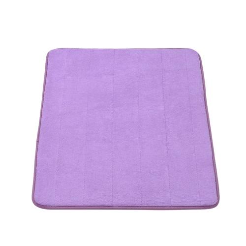 50 * 80cm Rectangular Soft Coral Fleece Bathroom Rug Non-slip Water Absorbent Shaggy Shower Mat Bathmat Bath Toilet Floor Rug Grey