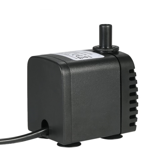 600L/H 8W Submersible Water Pump for Aquarium Tabletop Fountains Pond Water Gardens and Hydroponic Systems with 2 Nozzles AC220-240V