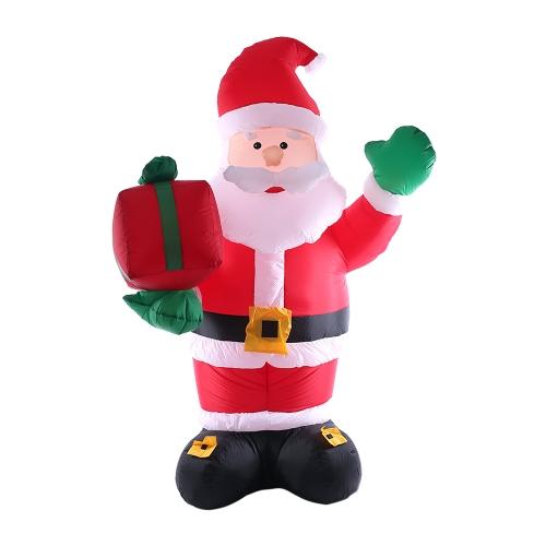 2.4m / 95in haut gonflable Noël Santa Claus X'mas décorations extérieures ornements AC100-240V prise de l'UE