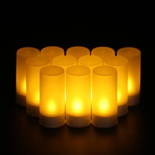 12pcs / set Świece LED wielokrotnego ładowania