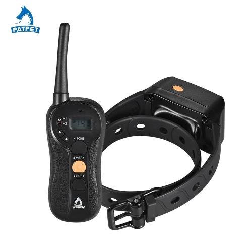 PATPET p-collar 630 No Shock Dog Training Collar Beep/Vibra/Light Anti Bark Collar Waterproof Rechargeable 656yd Remote 16 Vibra I