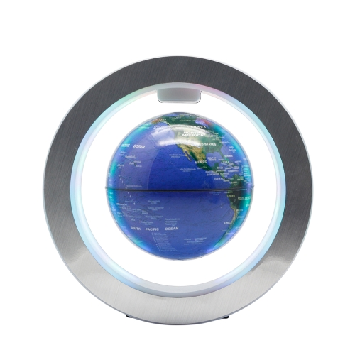 "Magnetic Floating Globe 6 ""Levitation rotierenden Ball mit LED-Leuchten Power-Taste schwebende Weltkarte Globus für Home Office Dekoration Kinder Bildung Geschenke EU-Stecker"