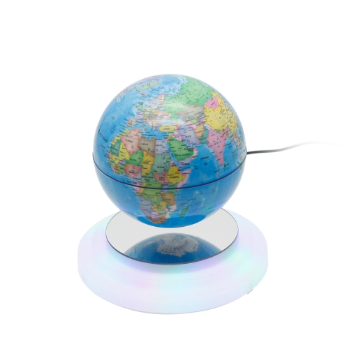 """6 """"Магнитный левитирующий глобус, плавающий вращающийся, подвесной в воздушном мире Карта Глобусный шарик со светодиодной подсветкой Штепсельная вилка США для украшения домашнего офиса Дети Образование Подарки"""