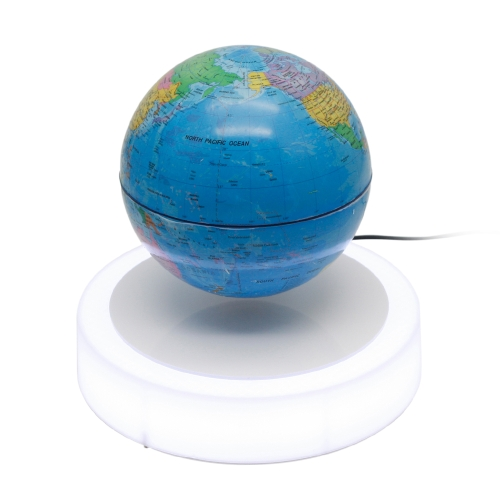 Magnetic Floating Globe 6inch Suspension Levitation Rotierenden Ball LED-Licht Base Levitating World Map Globus für Home Office Dekoration Kinder Bildung Geschenke US-Stecker