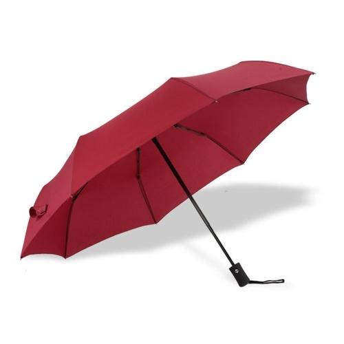 Paraguas plegable tríptico automático de buena calidad para hombres y mujeres