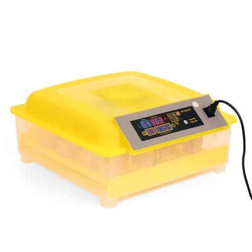 48-Eggs Intelligent Automatic Egg Incubator Temperature Control Hatcher for Hatching Chicken Duck Bird Quail Poultry AC220V EU Plug