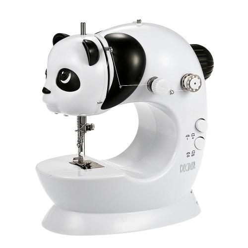Decdeal Mini Electric Бытовая швейная машина Скорость Регулируемая с помощью педального светодиодного набора для шитья AC100-240V