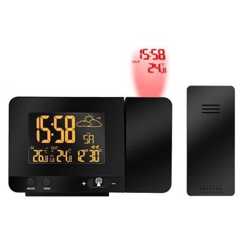 Sveglia a proiezione radiocomandata digitale LCD multifunzione