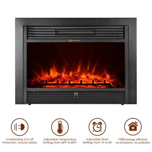 Electric Fireplace Insert Heater Glass, Fake Fireplace Heater Insert
