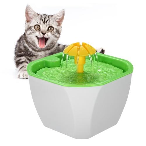 Pet Water Fountain 1.6L Automatic Cat Flower Water Dispenser