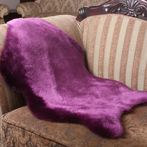 Alfombras de lana de imitación brillante lavable súper suave