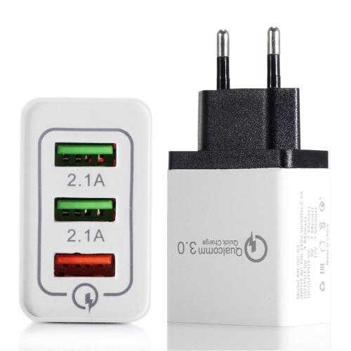 Tragbares Universal-USB-Wand-Ladegerät für 3-Port-Geräte