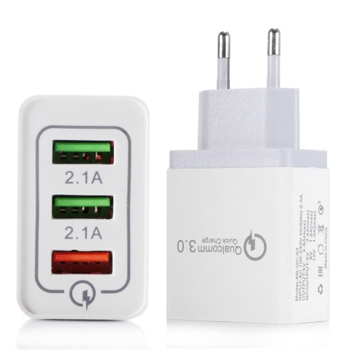 Portable Travel Home Universal 3-Port USB Wall Charger
