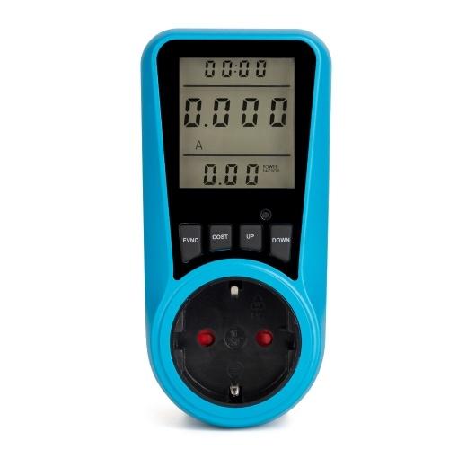 AC230V ~ 250V LCD Anzeige Stromverbrauch Stromzähler Buchse