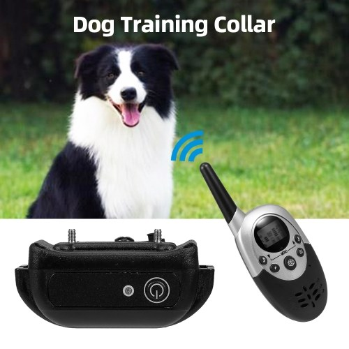犬の訓練の襟充電式犬のショックの襟1200フィートの範囲4トレーニングモードビープ振動ショック8レベル犬のトレーナー