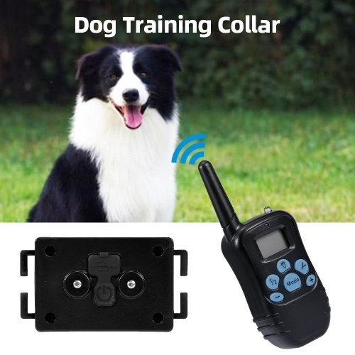 Rechargeable Dog Shock Collar Dog Training Collar 330 Yards Range 4 Training Modes Beep Vibration Shock  E-Collar Dog Trainer