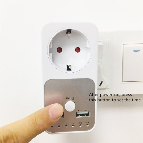 Electrical Outlet Plug Timer Socket Countdown Smart Time Setting Swtich