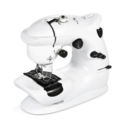 Мини Швейная Машина Портативная Многофункциональная Швейная Машина 2-х скоростная обратная швейная педаль управления фото