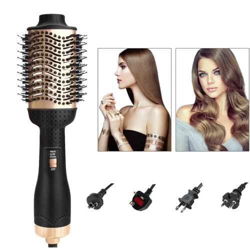 Multifunctional Hair Comb Hair Dryer Brush Negative Ion Hair Curler 3 in 1 Dryer Comb Hair Straightener and Curling Iron