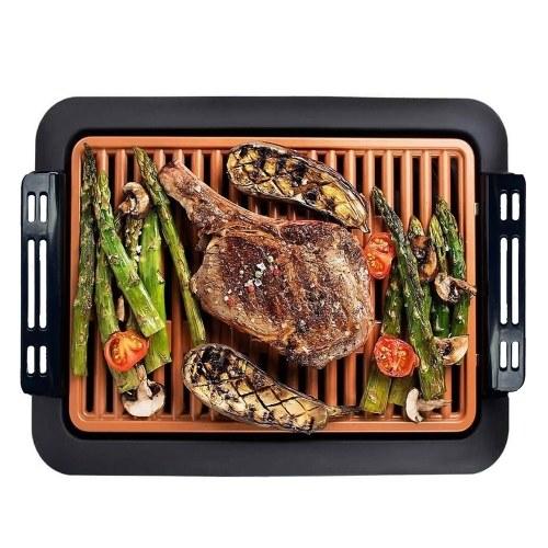 Barbecue Electric Indoor BBQ Rauchfreier Grill Abnehmbarer, nicht klebender, leicht zu reinigender Grill